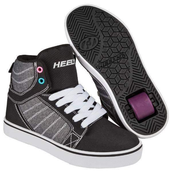 Girls Heelys - Heelys Girls  Uptown Hi-Top Black Sparkle