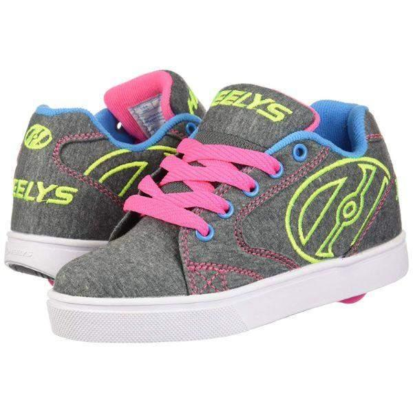 Girls Heelys - Heelys Girls VOPEL - Grey Heathered/Neon Multi