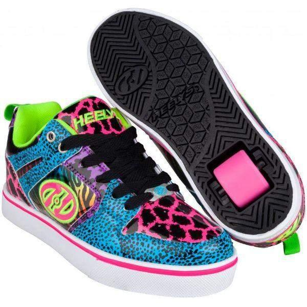 Girls Heelys - Heelys Motion Cyan Pink Purple Girls Skate Shoes