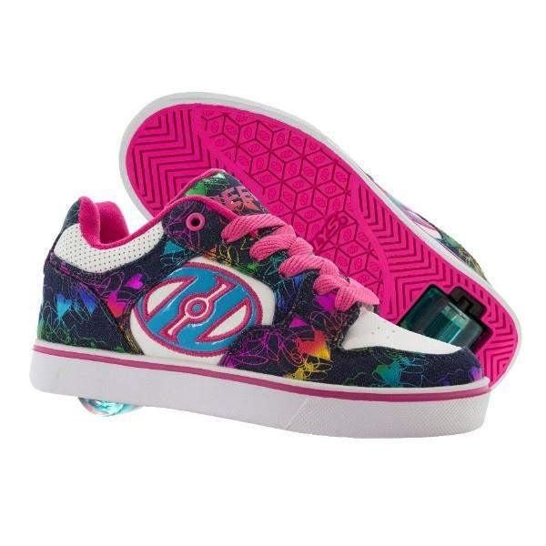 Girls Heelys - HEELYS MOTION PLUS - WHITE/DENIM/RAINBOW / YOUTH