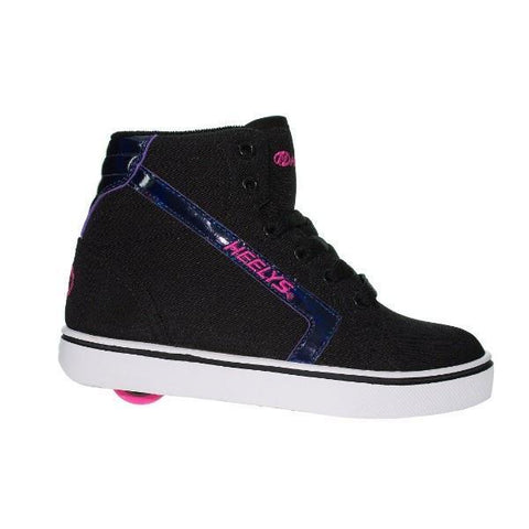 Girls Heelys - Heelys Uptown Hi-Top Black Hologram Pink  / Youth