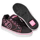 Girls Heelys - Heelys Vopel /Black/Pink/White / Kids Heelys / Youth