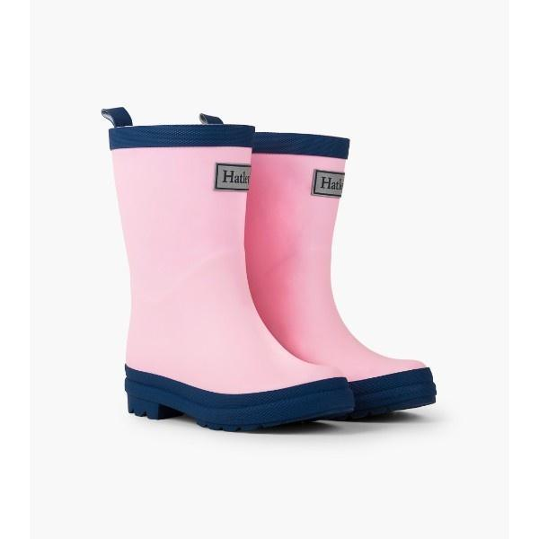 Hatley Girls Pink & Navy Kids Rain Boots