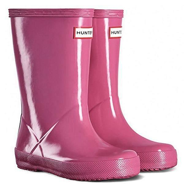 Hunter Kids First Gloss Fuchsia Rainboots / Infant / Toddler - shoekid.ca