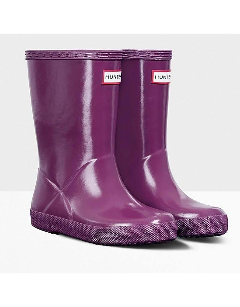 Hunter Kids First Purple Gloss / Rain Boots / Infant / Toddler - shoekid.ca