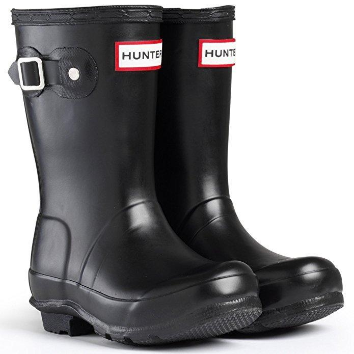 Hunter Original Black Rainboots / Big Kids / Youth - ShoeKid Canada