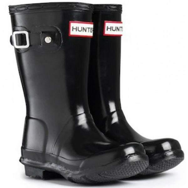 Hunter Original Kids Gloss Black (Kids Rain Boots) - shoekid.ca