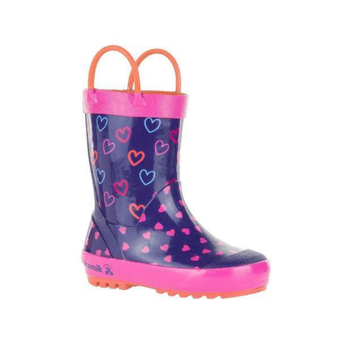 Girls Rain Boots - Kamik Cherish Toddler Little Kids Rainboots