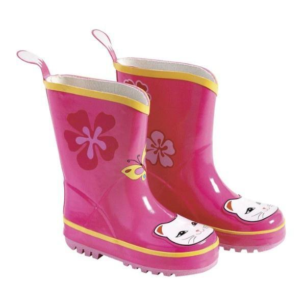 Kidorable Lucky Cat Rain Boots Pink / Infant / Toddler / Little Kids - ShoeKid Canada