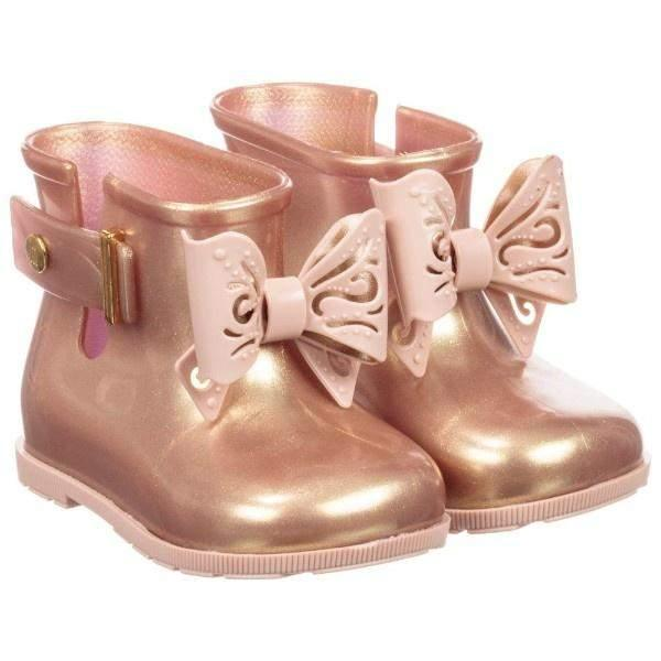Girls Rain Boots - Mini Melissa Sugar Rose  / Rain Boots / Toddler / Kids