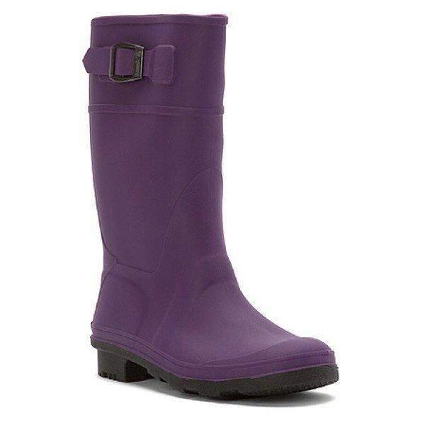 Kamik Kids Raindrops Eggplant Girls Rain Boot / Made in Canada - ShoeKid.ca