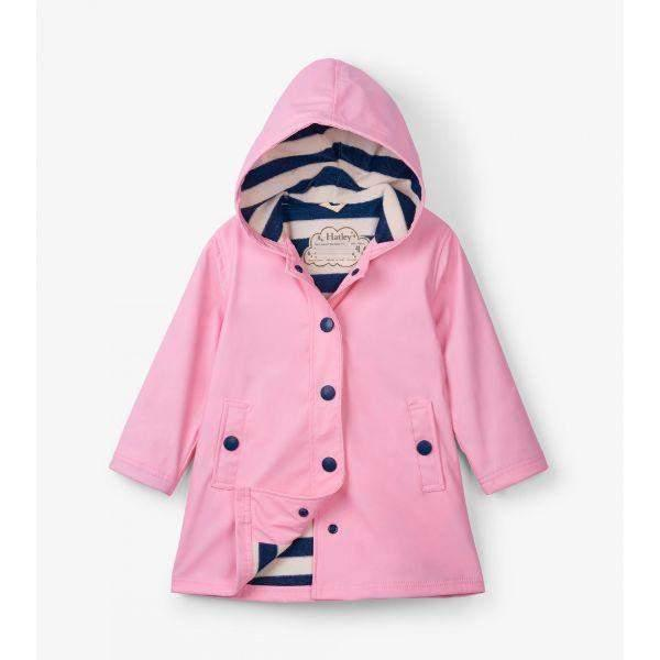 Hatley Classic Pink & Navy Girls Rain Coats / Kids - ShoeKid Canada
