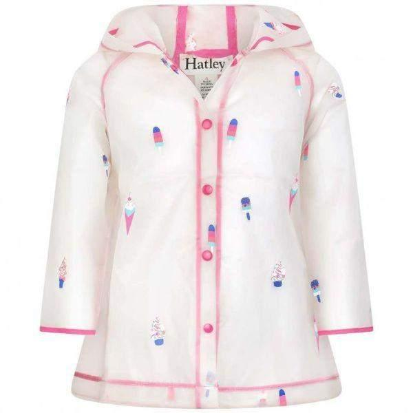 Girls Rain Coats - Hatley Cool Treats Clear Girls Rain Coats / 100% Waterproof