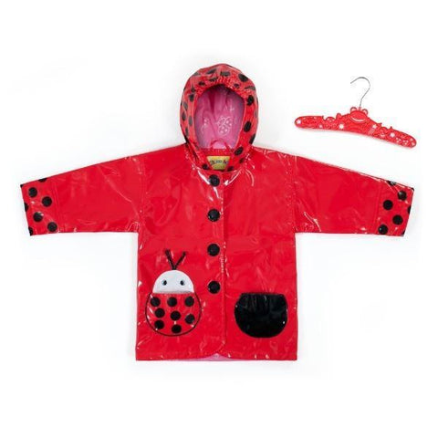 Girls Rain Coats - Kidorable Kid's Ladybug Rain Coat / Toddler / Little Kids