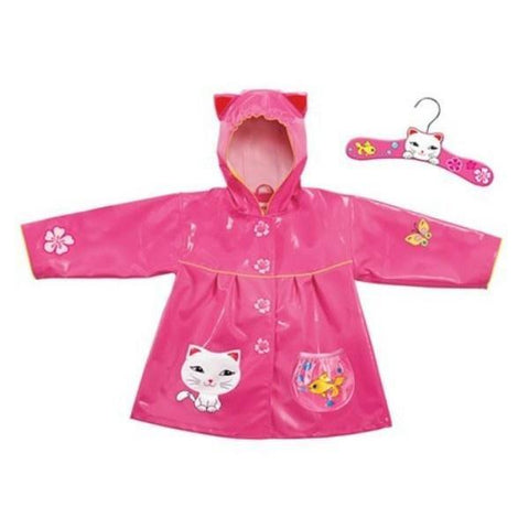 Girls Rain Coats - Kidorable Kid's Lucky Cat Rain Coat / Toddler / Little Kids