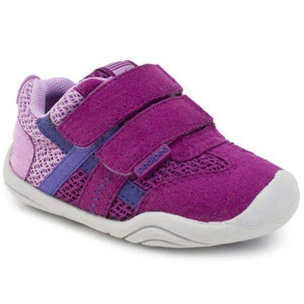 Girls Running Shoes - Pediped Gehrig Pink Berry Grip And Go Shoes