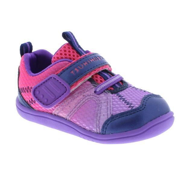 Girls Running Shoes - Tsukihoshi Baby Marina Girls Running Shoes (Purple/Fuchsia)