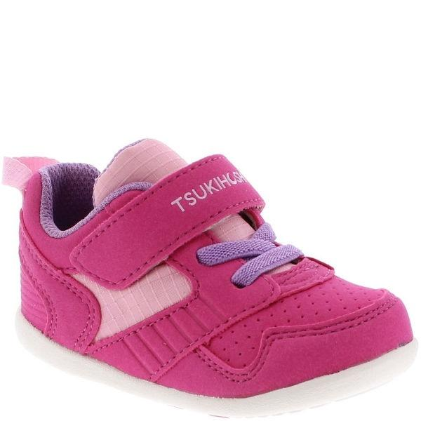 Girls Running Shoes - Tsukihoshi Baby Racer Fuchsia Pink / Machine Washable