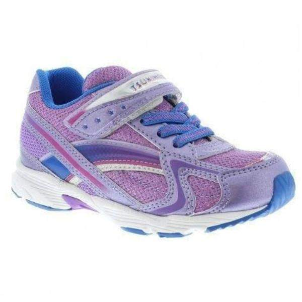 Tsukihoshi Child Glitz Purple Royal  Girls Running Shoes
