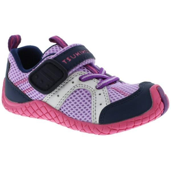 Girls Running Shoes - Tsukihoshi Child 12 Marina Lavender Navy (Machine Washable)