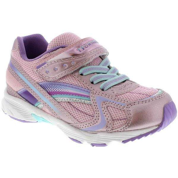 Tsukihoshi Glitz Rose Lavender Girls Running Shoes (Machine Washable)