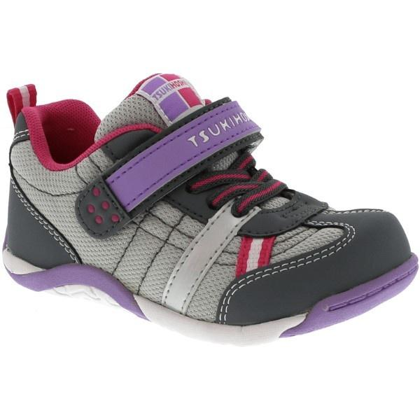 Girls Running Shoes - Tsukihoshi KAZ / Toddler/Little Kid / Gray Purple / Machine Washable