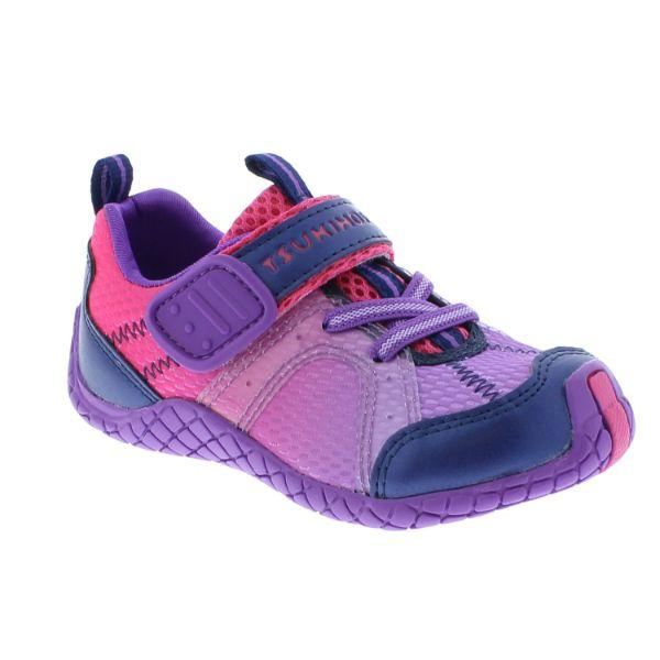Girls Running Shoes - Tsukihoshi Kids Marina Girls Running Shoes (Fuchsia/Purple)