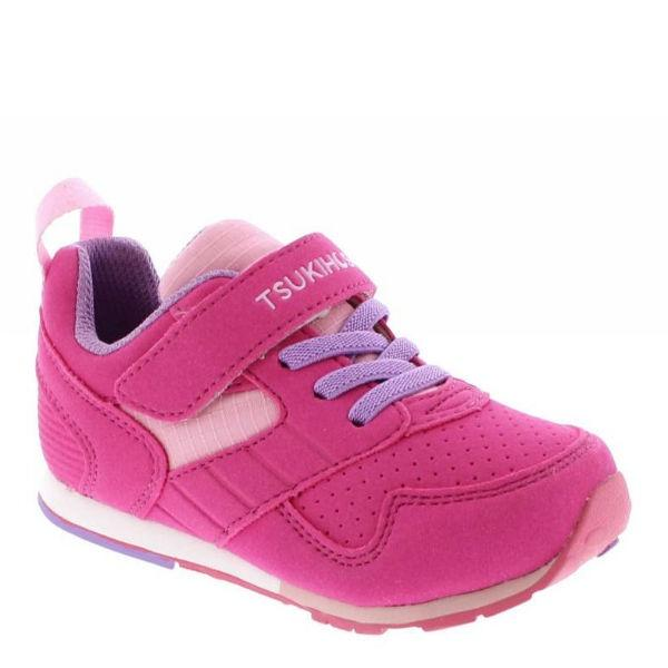 Tsukihoshi Racer Fuchsia Pink Girls Running Shoes (Machine Washable)