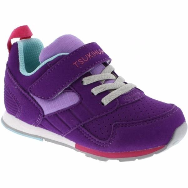 Tsukihoshi Racer Girls Running Shoes /Purple Lavender / Toddler / Little Kids - ShoeKid Canada