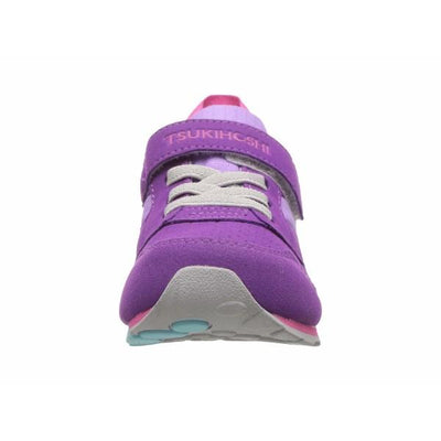 Girls Running Shoes - Tsukihoshi Racer Purple Lavender / Machine Washable / Toddler / Little Kids