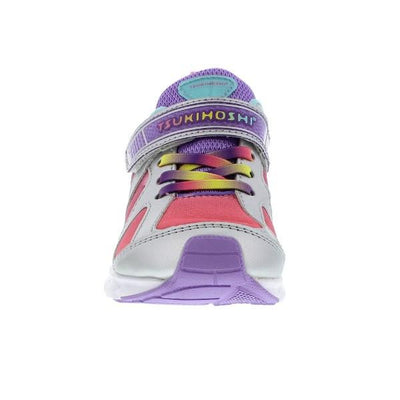 Girls Running Shoes - Tsukihoshi Rainbow / Silver Lavender /Little Kid /Machine Washable