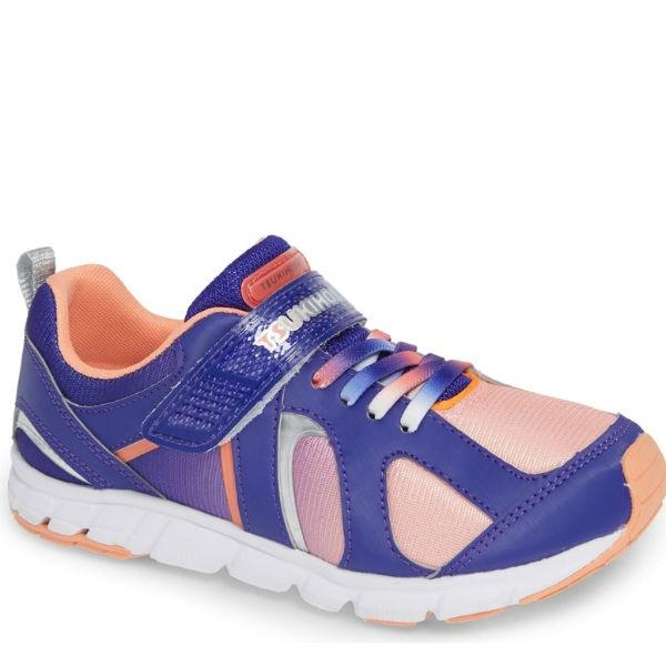 Girls Running Shoes - Tsukihoshi RAINBOW Violet Peach / Little Kid /Machine Washable