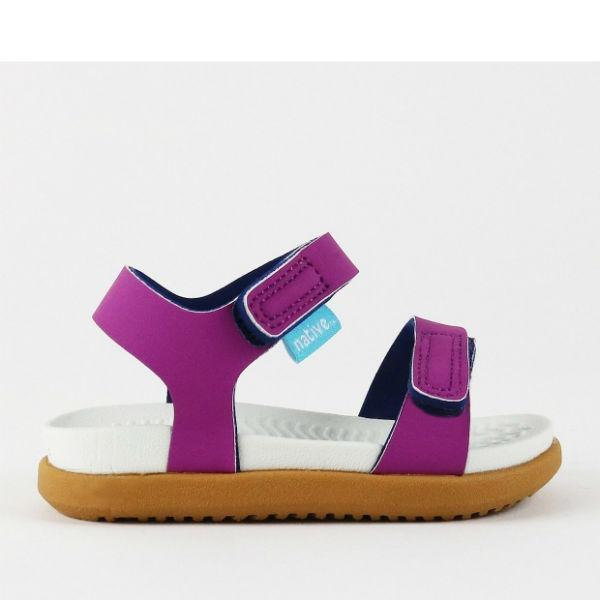 Girls Sandals - Native Charley Origami Purple  / Water Friendly