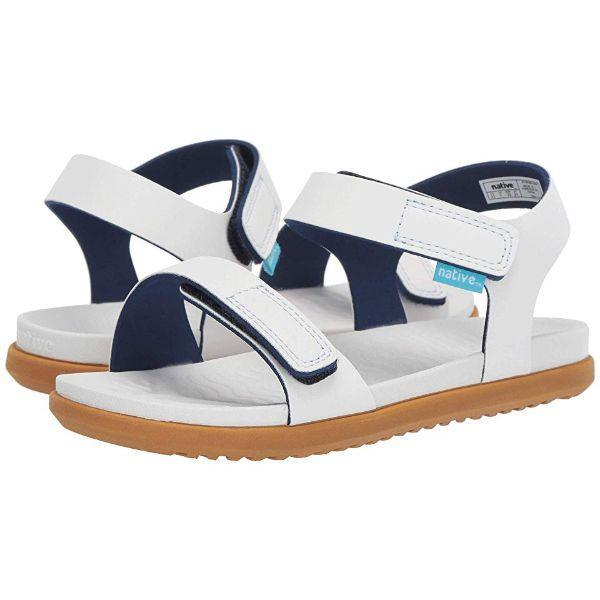Native Charley White Girls Sandals (Water Friendly)