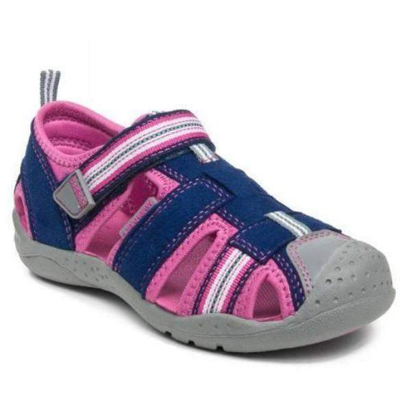 Pediped Sahara, Navy Pink Adventure Sandals - Water-friendly - Machine Washable - shoekid.ca