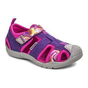 Girls Sandals - Pediped Sahara Purple Swirl / Water-friendly / Machine Washable (Fits .5 Long)