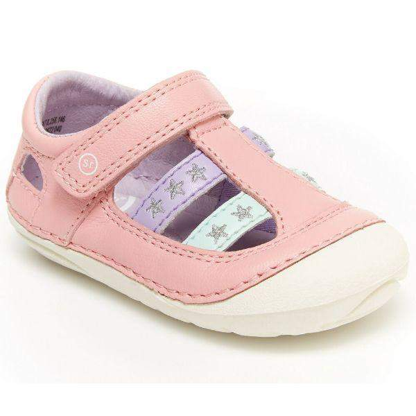 Stride Rite Aurora  Pink Toddler Leather Sandals - ShoeKid.ca