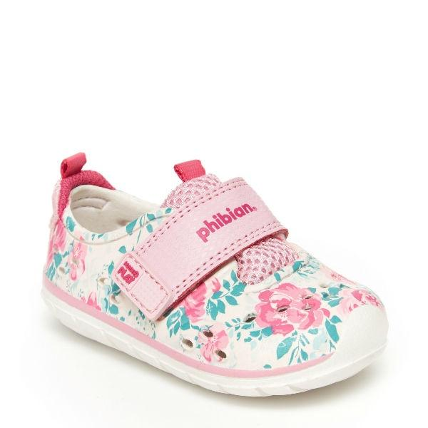 Girls Sandals - Stride Rite Baby Sandals Phibian Pink White / Water Friendly