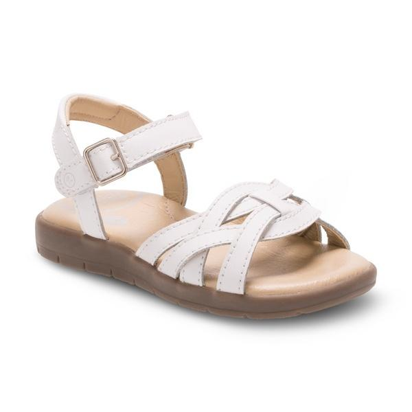 Girls Sandals - Stride Rite Millie White Leather Toddler/Kids Girls Sandals