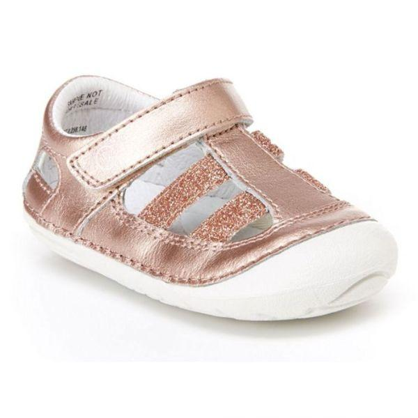 Girls Sandals - Stride Rite Rose Gold Baby Toddler Leather Sandals