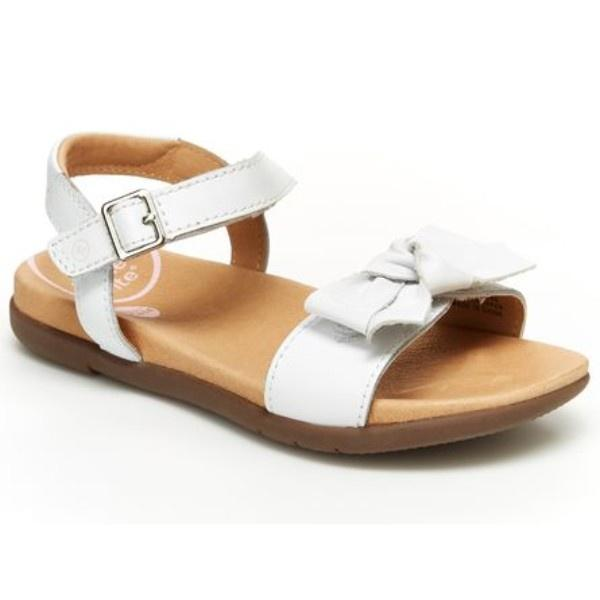 Girls Sandals - Stride Rite Savannah White /Toddler / Little Kids /Leather