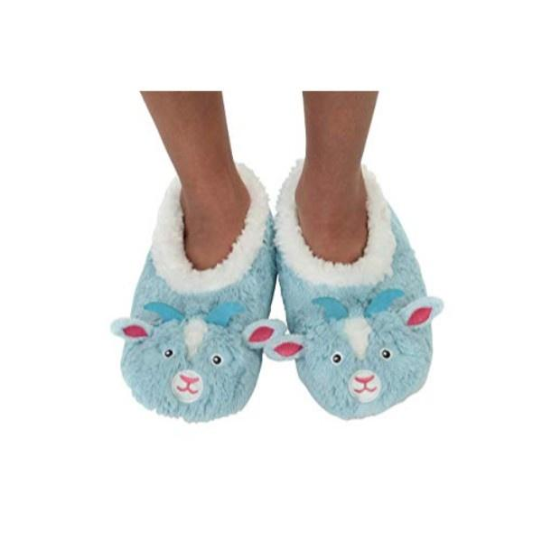 Snoozies Goat Indoor Big Kids Slippers - ShoeKid.ca