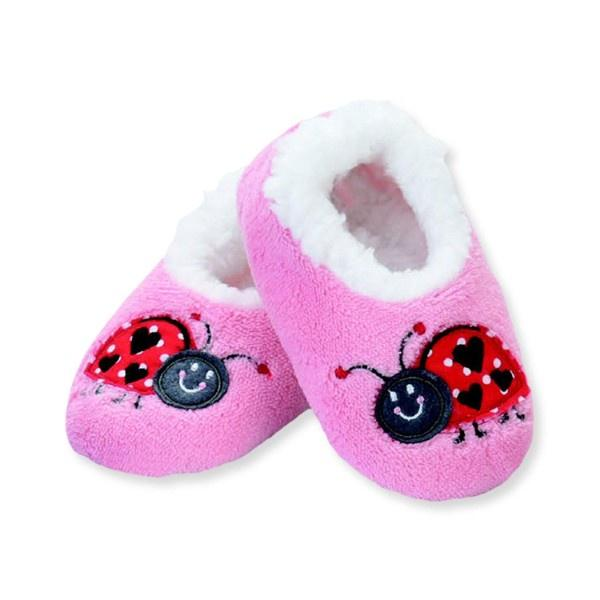 Girls Slippers - Snoozies Ladybug Indoor Slippers / Infant / Toddler / Little Kids