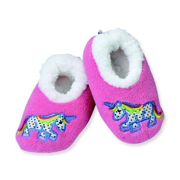Snoozies Polka Unicorn Indoor Slippers / Toddler / Little Kids