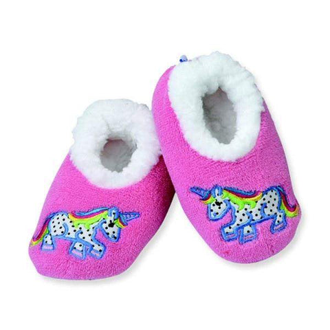 Girls Slippers - Snoozies Polka Unicorn Indoor Slippers / Toddler / Little Kids