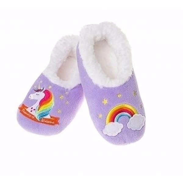 5f3be09e1243c Girls Slippers - Snoozies Unicorn Cozy Slippers / Infant / Toddler / Little  Kids
