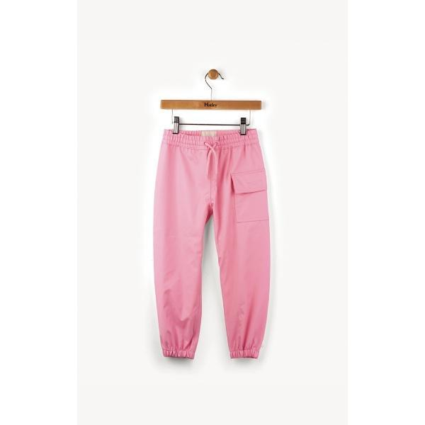 Hatley Kids Girls Pink Rain Pants (100% Waterproof)