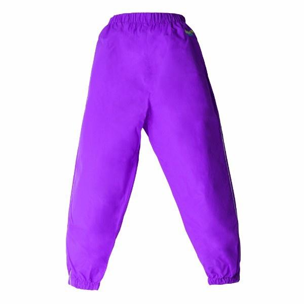 Girls Splash Pants - Splashy Kids Rain Pants Purple – 100% Waterproof - Windproof
