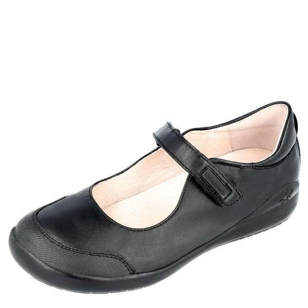 Girls Uniform Shoes - Biomecanics Mercedes Girls Leather Uniform Shoes + Toe Guard