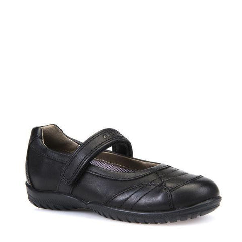 Girls Uniform Shoes - Geox Girls  Shadow Leather Uniform School Shoes / Kids / Youth